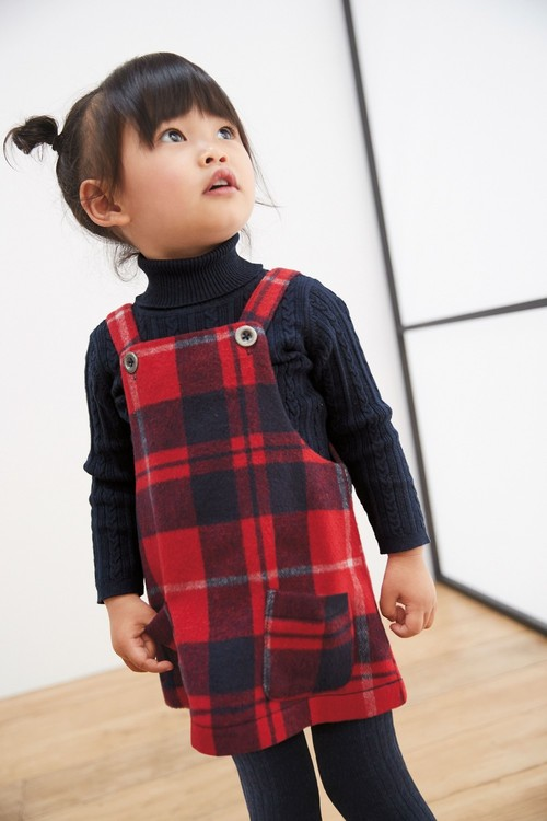 Next Check Pinafore With Tights (3mths-7yrs)
