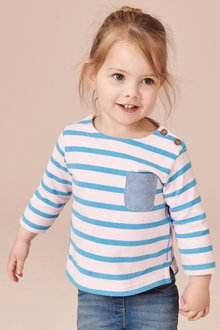 Next Stripe Boat Neck T-Shirt (3mths-7yrs)
