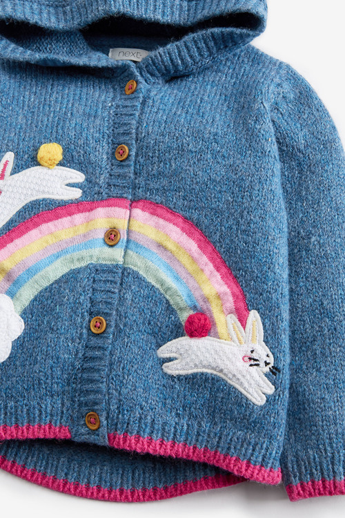 Next Bunny Hoody Cardigan (3mths-7yrs)