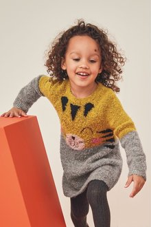 Next Tiger Face Jumper Dress (3mths-7yrs)