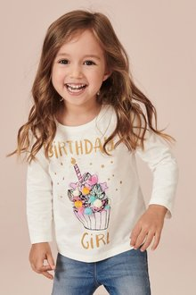 Next Birthday Girl Long Sleeve T-Shirt (3mths-7yrs)