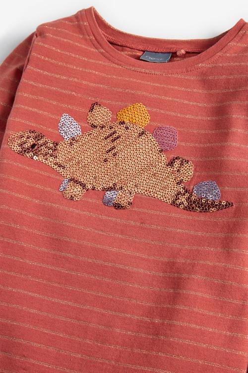 Next Sequin Dinosaur Long Sleeve T-Shirt (3mths-7yrs)
