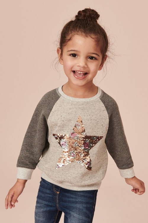 Next Sequin Star Sweatshirt (9mths-7yrs)