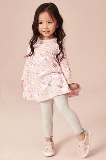 Next Unicorn Print Stripe Dress (3mths-7yrs)
