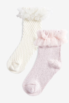 Next 2 Pack Pretty Frill Socks (Younger)