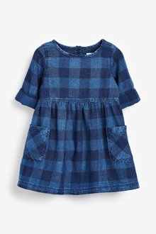 Next Check Pocket Dress (3mths-7yrs)