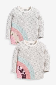 Next Stripe Sequin Rainbow T-Shirt (9mths-7yrs)