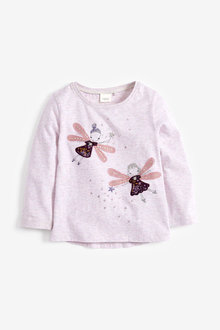 Next Sparkly Fairies Long Sleeve T-Shirt (3mths-7yrs)