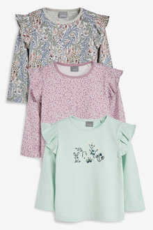 Next 3 Pack Floral Long Sleeve T-Shirts (3mths-7yrs)