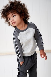 Next Taped Sleeve Raglan Crew (3mths-7yrs)