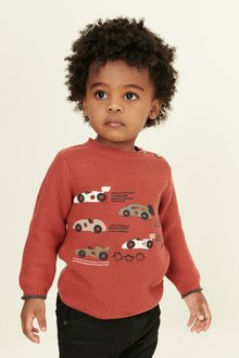 Next Car Applique Crew Jumper (3mths-7yrs)