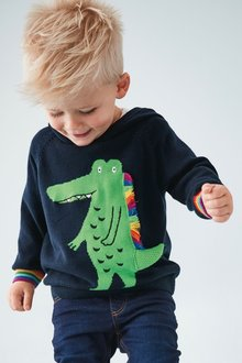 Next Crocodile Knitted Hoody (3mths-7yrs)