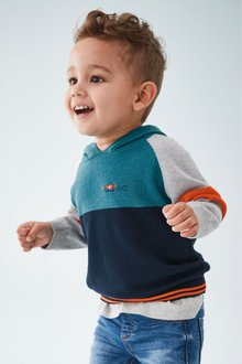 Next Colourblock Knitted Hoody (3mths-7yrs)
