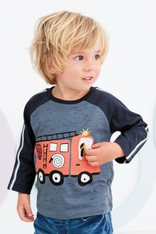 Next Long Sleeve Interactive Fire Engine T-Shirt (3mths-7yrs)