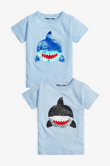 Next Short Sleeve Shark Flippy Sequin T-Shirt (9mths-7yrs)