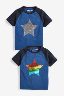 Next Short Sleeve Flippy Sequin Star T-Shirt (9mths-7yrs)