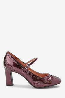 Next Brogue Mary Janes-Wide