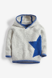 Next Star Cosy Knitted Hoody (3mths-7yrs)