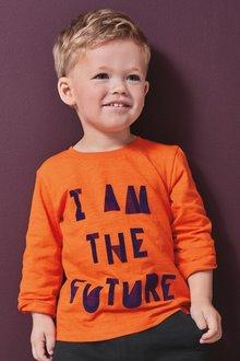 Next Long Sleeve Slogan T-Shirt (3mths-7yrs)