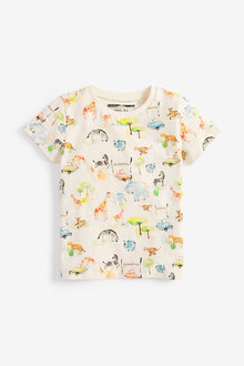 Next Safari All Over Print T-Shirt (3mths-7yrs)