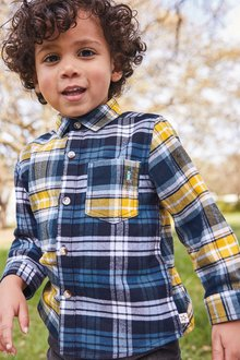 Next Check Long Sleeve Oxford Shirt (3mths-7yrs)