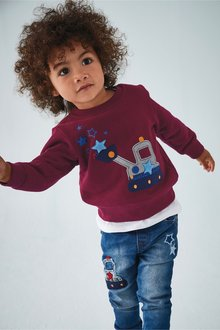 Next Digger Applique Crew (3mths-7yrs)