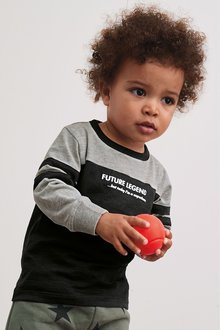 Next Future Legend Long Sleeve Colourblock T-Shirt (3mths-7yrs)