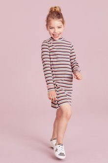 Next High Neck Long Sleeve Dress (3-16yrs)
