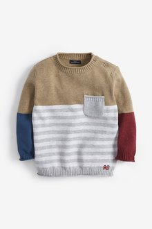 Next Colourblock Stripe Jumper (3mths-7yrs)
