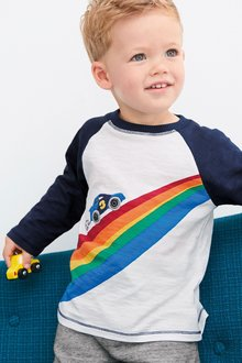 Next Long Sleeve AppliquA Car T-Shirt (3mths-7yrs)
