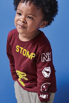Next Long Sleeve Dino T-Shirt (3mths-7yrs)