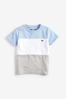 Next Smart Colourblock T-Shirt (3mths-7yrs)