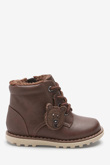 Next Bear Lace-Up Boots (Younger)