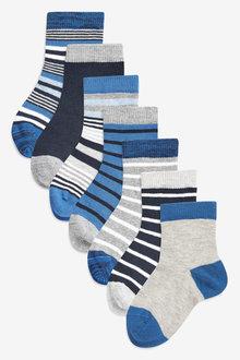 Next 7 Pack Stripe Socks (Younger)
