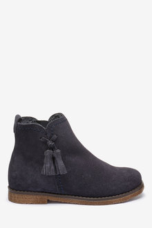 Next Suede Tassel Ankle Boots (Older) - 241435