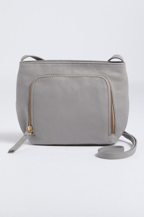 Jade Leather Zip Crossbody Bag