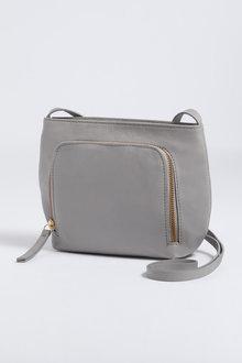 Jade Leather Zip Crossbody Bag - 241641