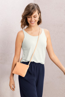 Minimalist Leather Crossbody Bag - 241669