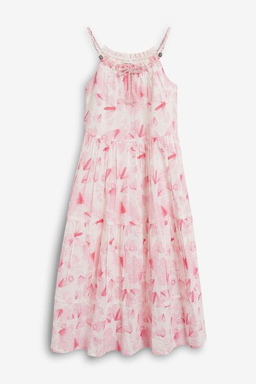 Next Butterfly Print Maxi Dress (3-16yrs)
