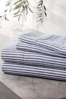 Hampton Stripe Linen Sheet Set - 241885
