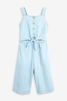 Next Denim Tie Front Jumpsuit - 241897