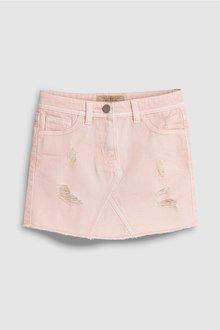 Next Pale Pink Denim Skirt - 241945