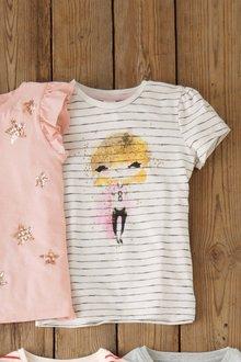 Next Monochrome Stripe Character T-Shirt - 241999