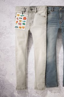 Next Denim Grey Super Skinny Stretch Jeans - 242116