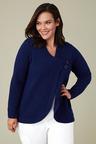 Plus Size - Sara Lambswool Button Cardi