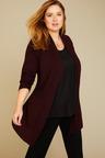 Plus Size - Sara Merino Panelled Waist Cardi