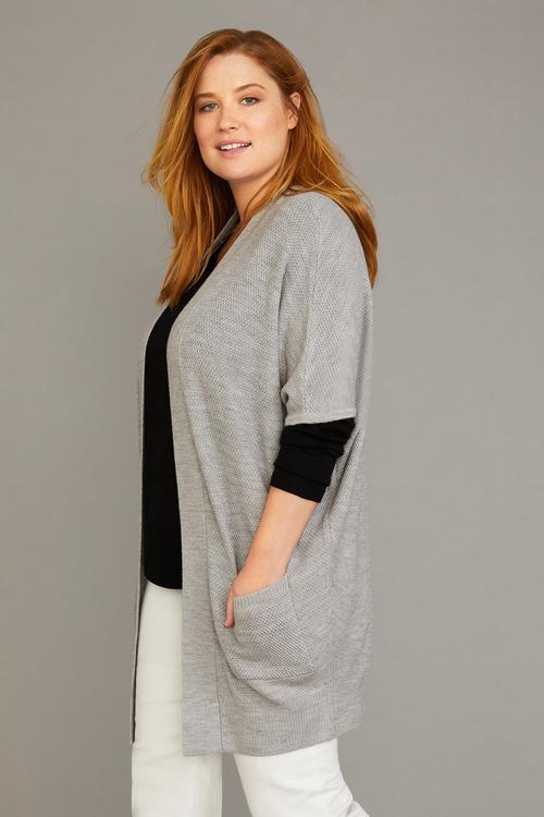 Plus Size - Sara Merino Batwing Cardi