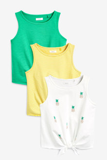 Next 3 Pack Pineapple Vests (3-16yrs)
