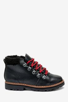 Next Faux Fur Trim Hiker Boots (Older)