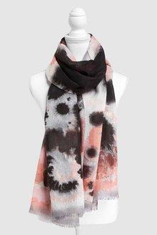 Next Grey/Pink/White Print Scarf - 242291
